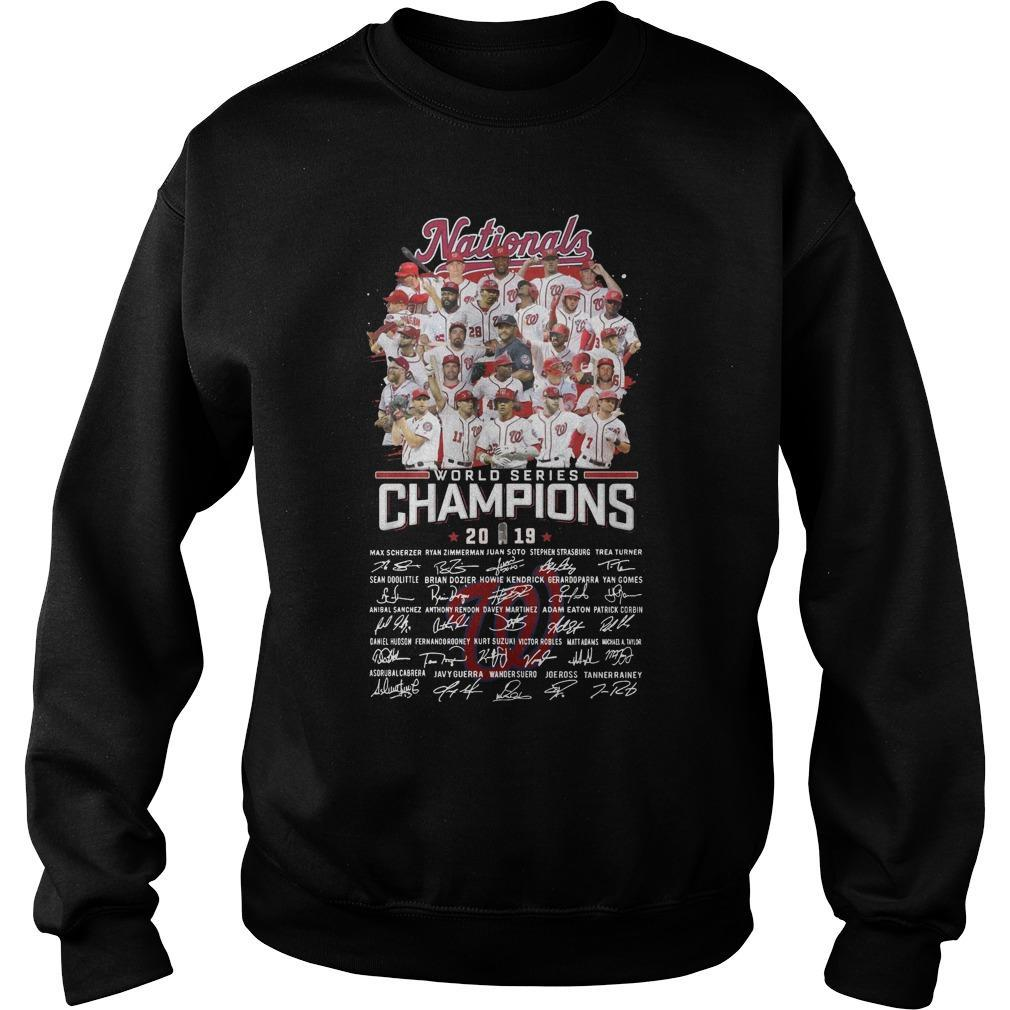 Nationals World Series Champions 2019 Signatures Sweater