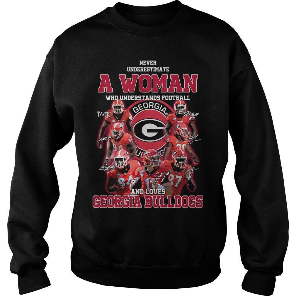 Never Underestimate A Girl Who Understands Football And Loves Georgia Bulldogs Sweater