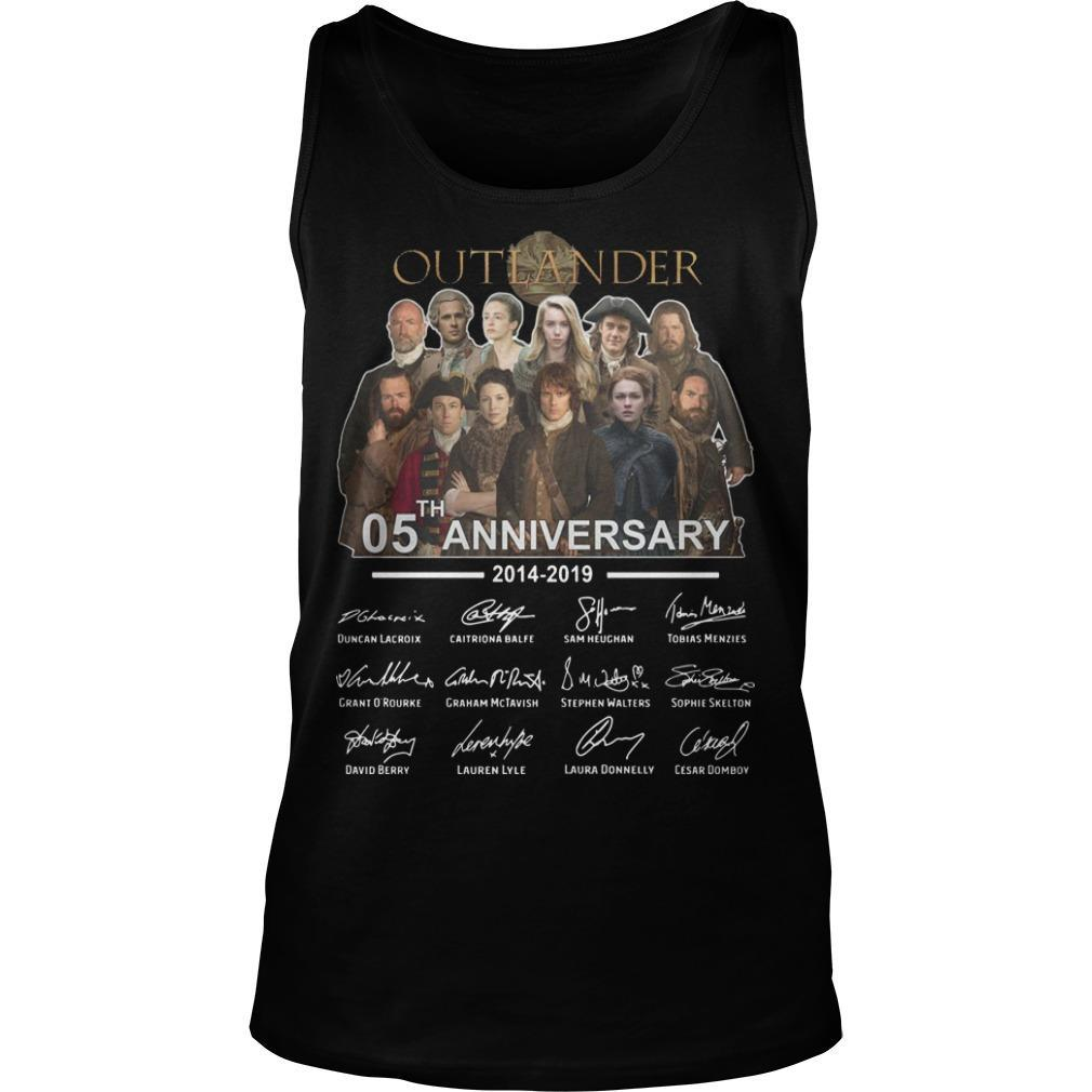 Outlander 05th Anniversary 2014 2019 Signatures Tank Top