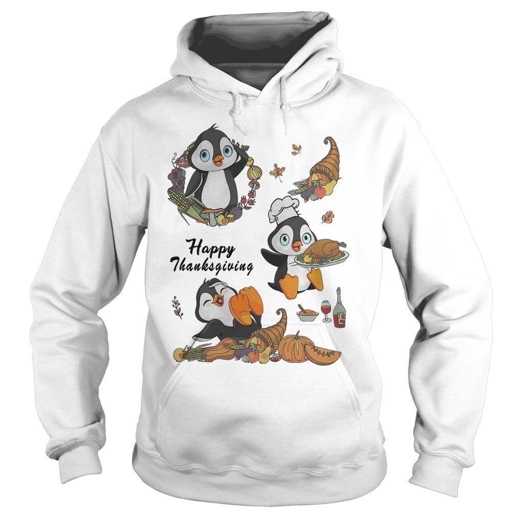 Penguins Happy Thanksgiving Hoodie