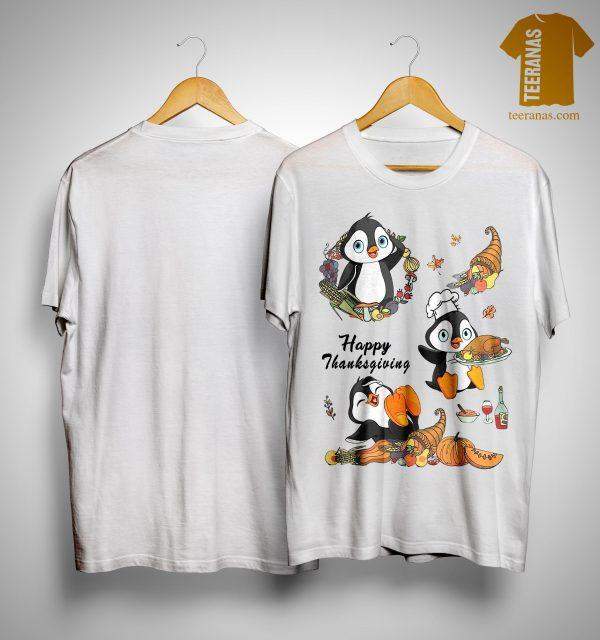Penguins Happy Thanksgiving Shirt