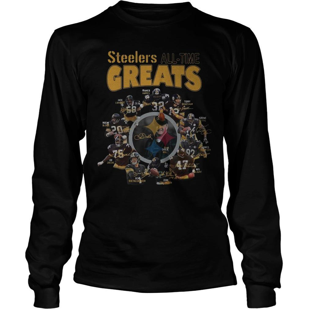 Pittsburgh Steelers All Time Greats Signatures Longsleeve