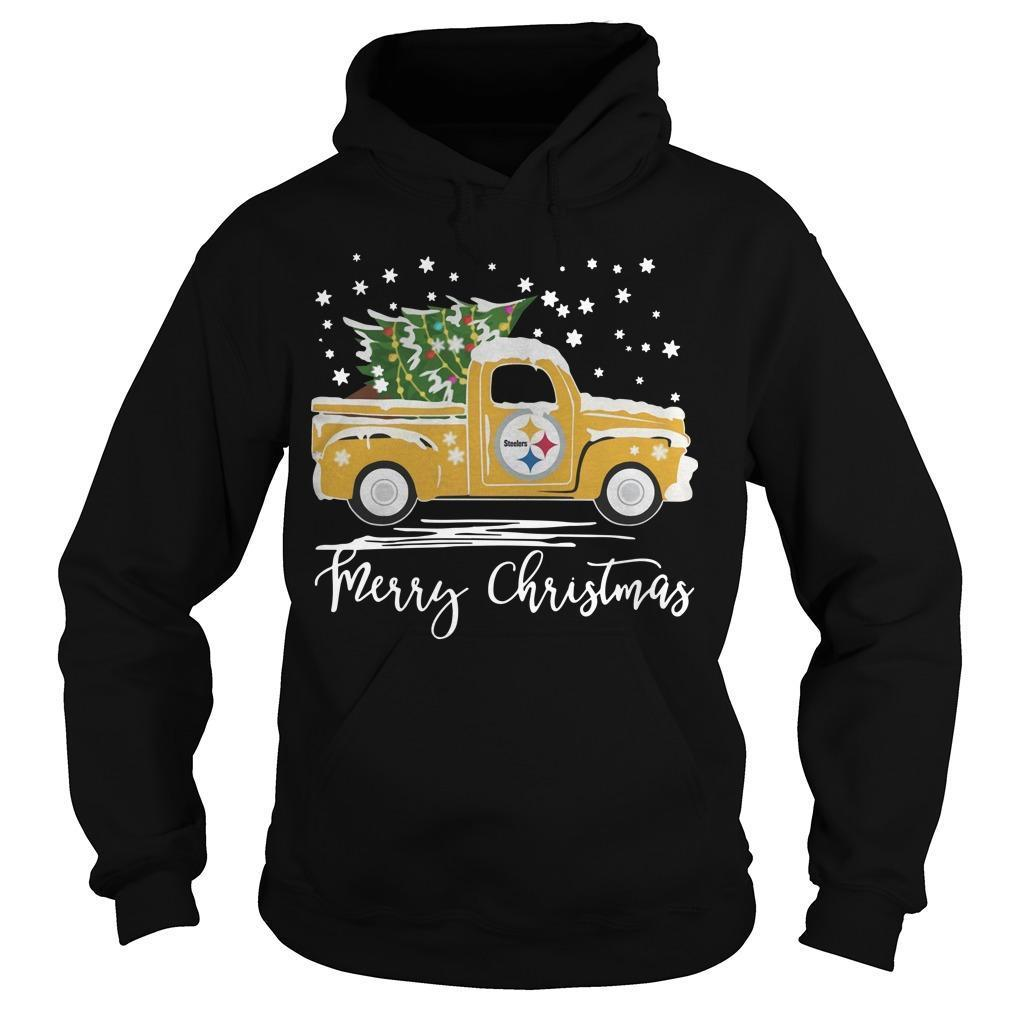 Pittsburgh Steelers Truck Merry Christmas Hoodie