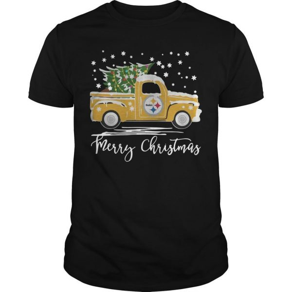 Pittsburgh Steelers Truck Merry Christmas Shirt
