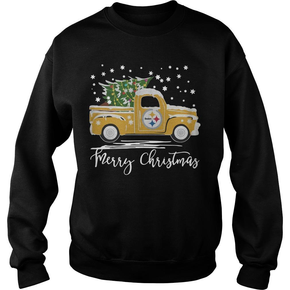Pittsburgh Steelers Truck Merry Christmas Sweater