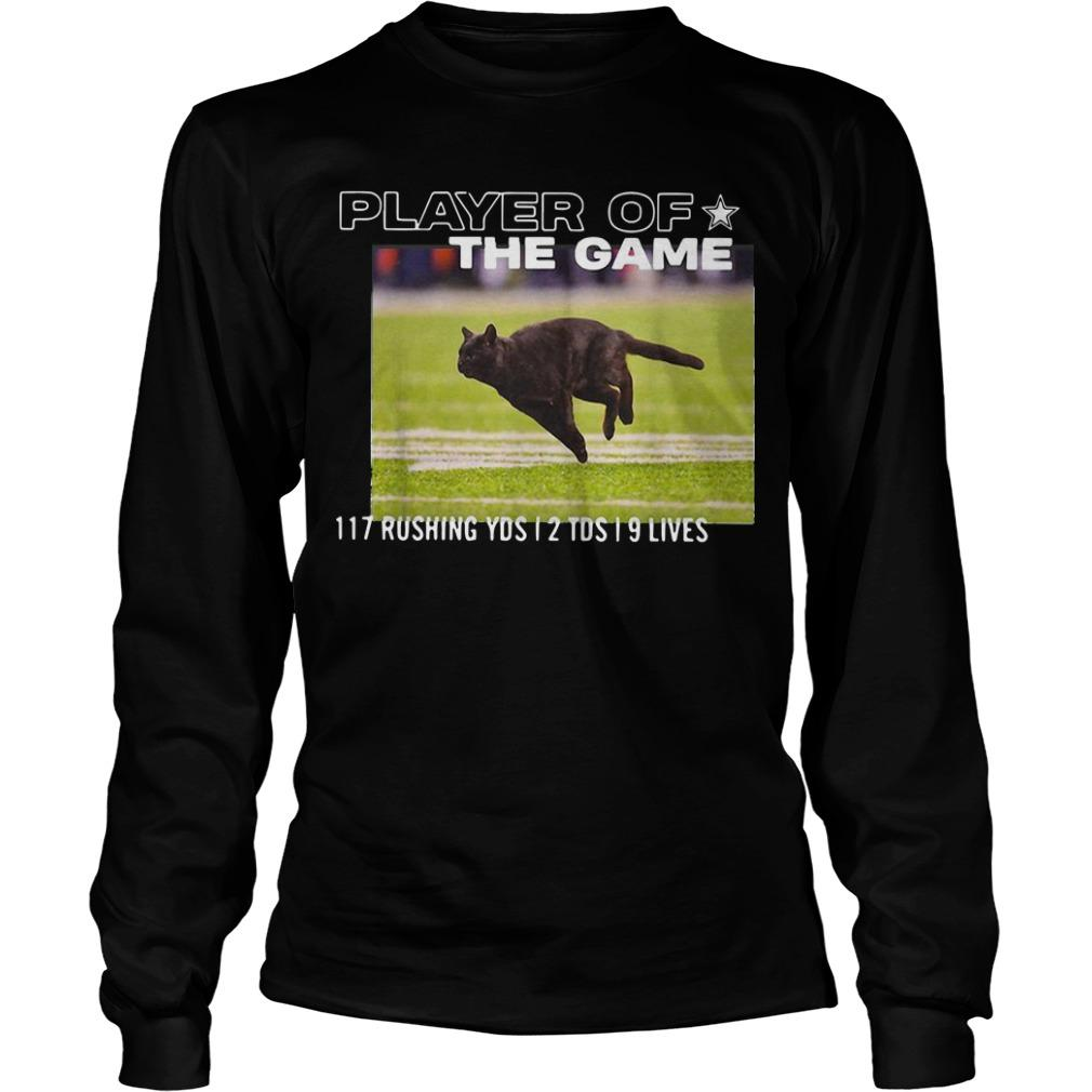 Player Of The Game 117 Rushing Yds 2 Tds 9 Lives Longsleeve