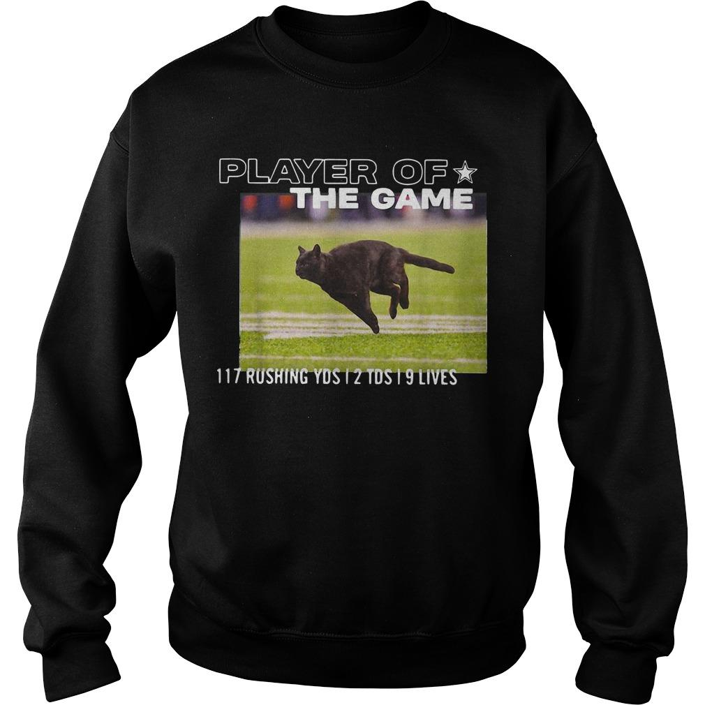 Player Of The Game 117 Rushing Yds 2 Tds 9 Lives Sweater