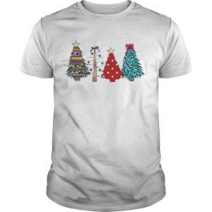 Printed Polka Dot Leopard Christmas Tree Shirt