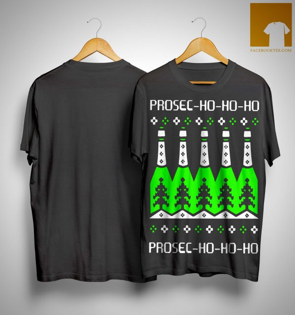 Prosecco Ho Ho Ho Christmas Day Beer Shirt