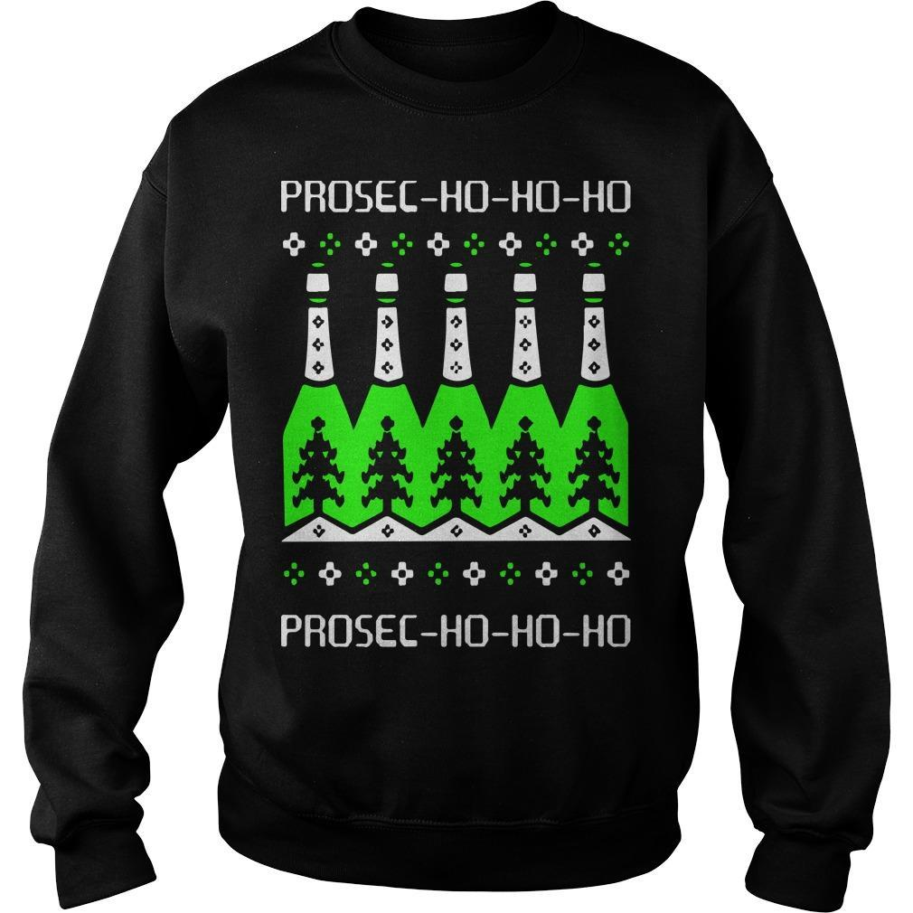 Prosecco Ho Ho Ho Christmas Day Beer Sweater