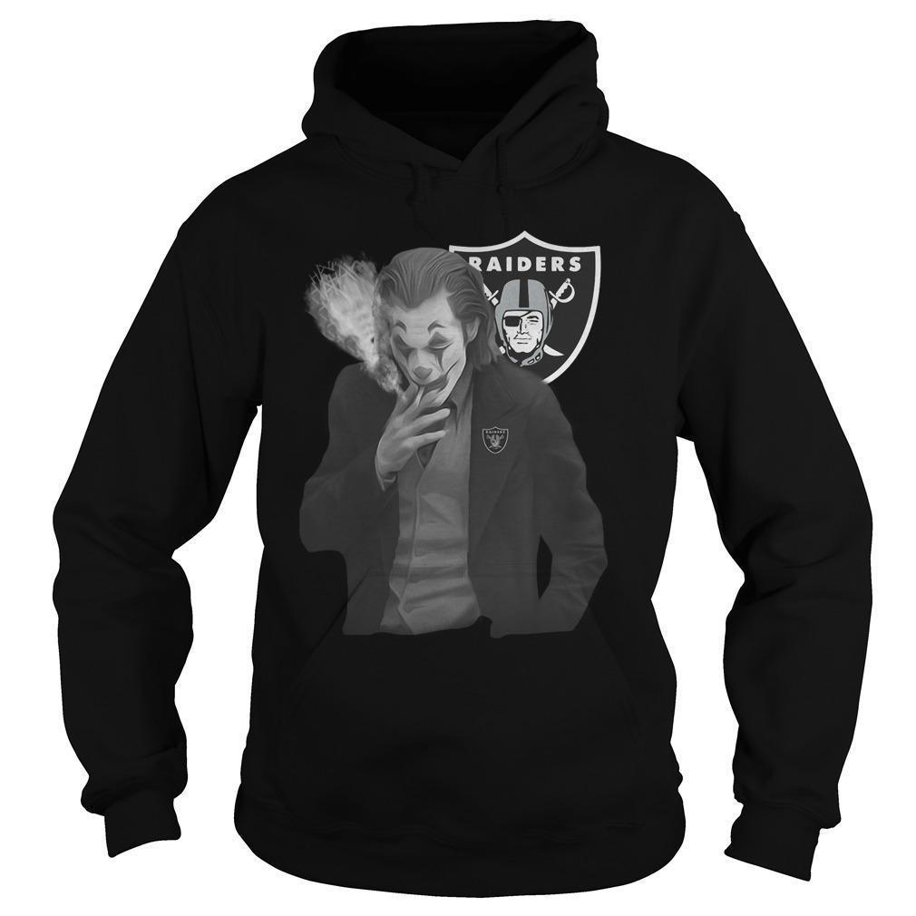 Raiders Oakland Joker Smoking Hoodie