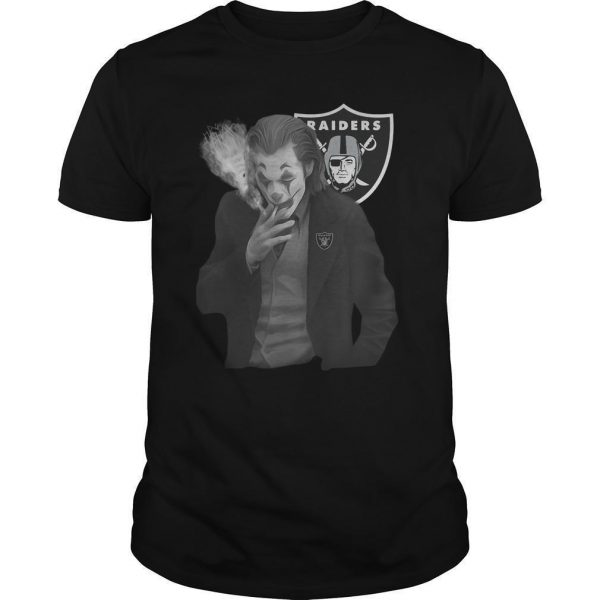 Raiders Oakland Joker Smoking Shirt