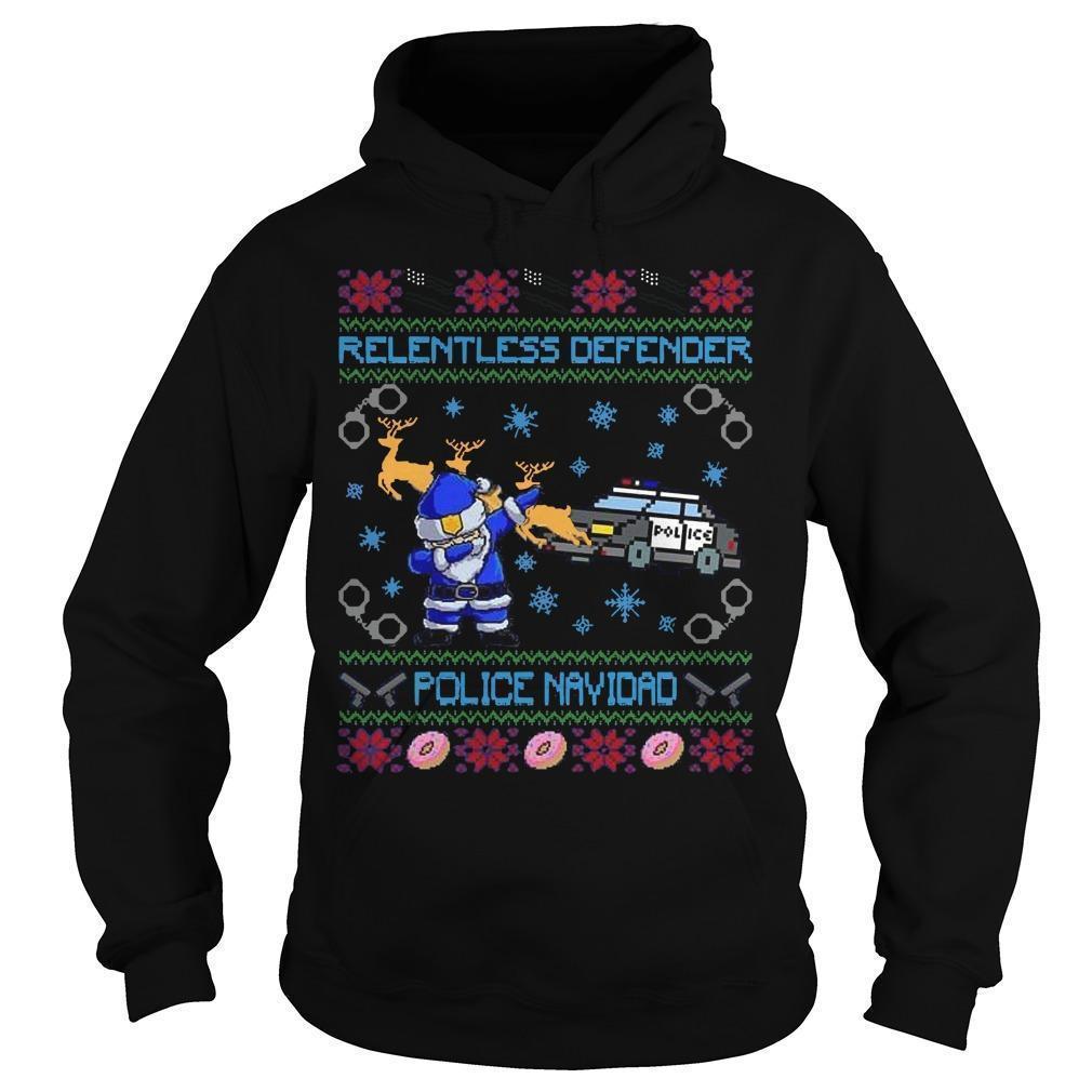 Relentless Defender Police Navidad Hoodie