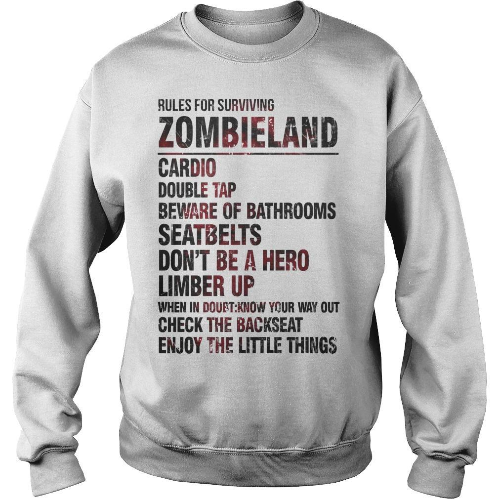 Rules For Surviving Zombie Land Cardio Double Tap Beware Of Bathrooms Sweater