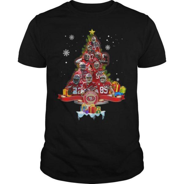 San Francisco 49ers Signatures Christmas Tree Shirt