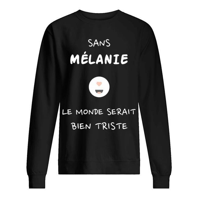 Sans Mélanie Le Monde Serait Bien Triste Sweater