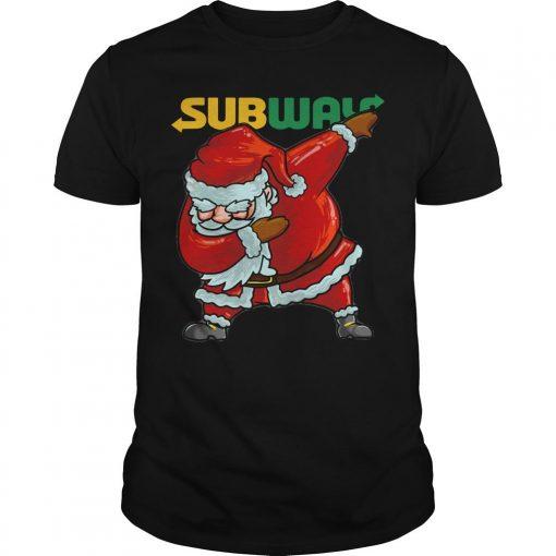 Santa Dabbing Subway Shirt