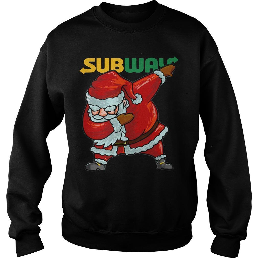 Santa Dabbing Subway Sweater