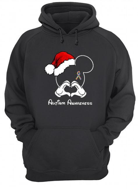Santa Mickey Autism Awareness Hoodie