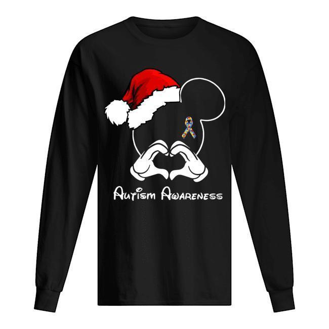 Santa Mickey Autism Awareness Longsleeve