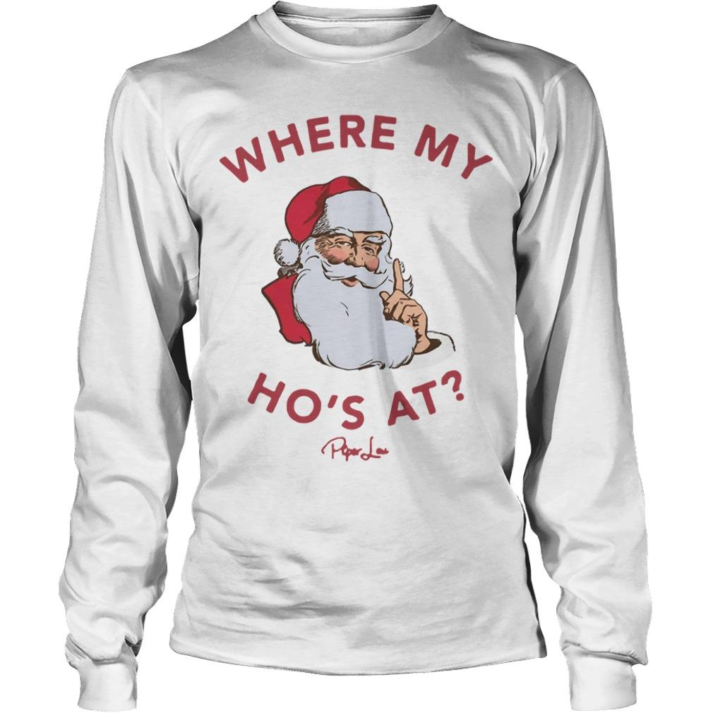 Santa Where My Ho's At Longsleeve