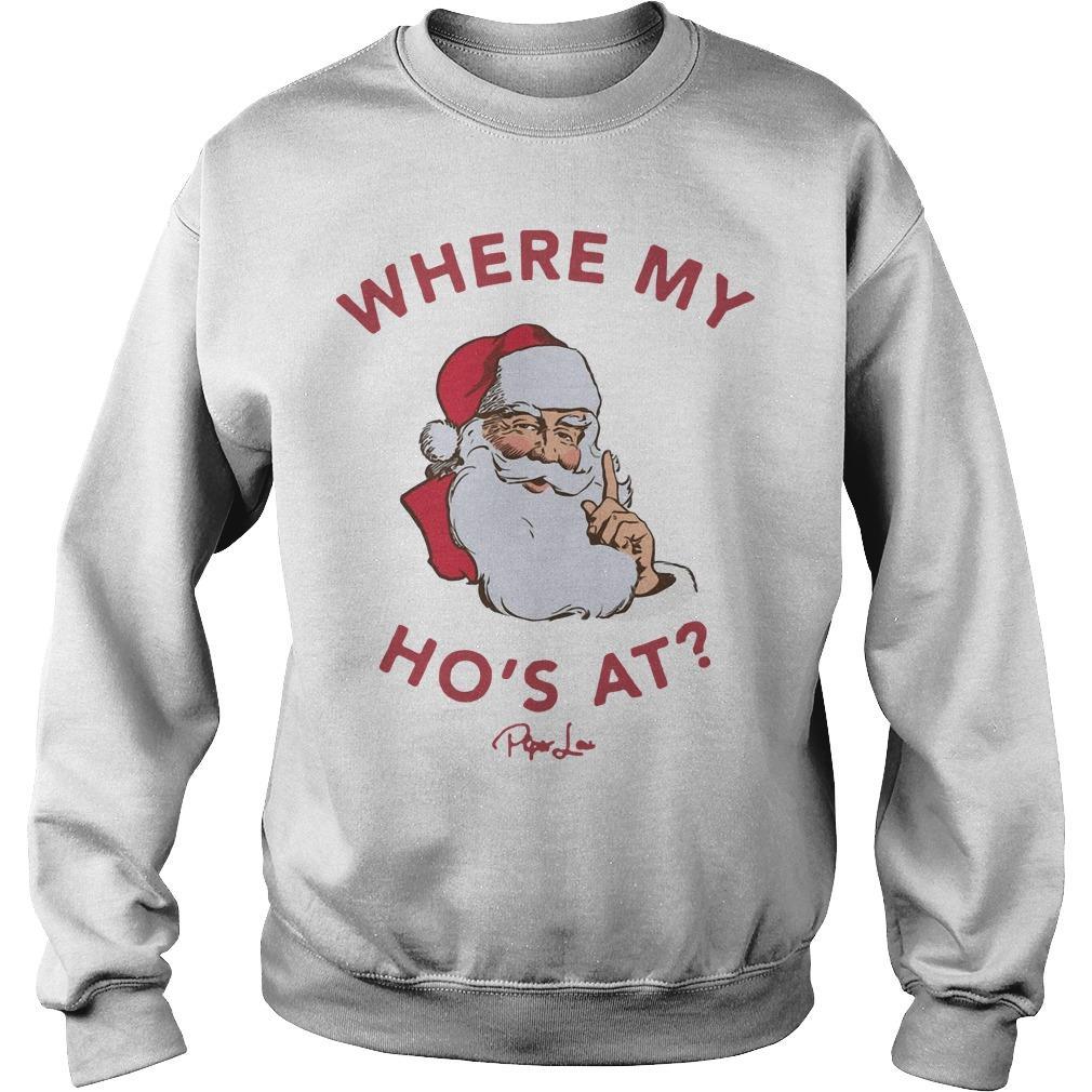 Santa Where My Ho's At Sweater