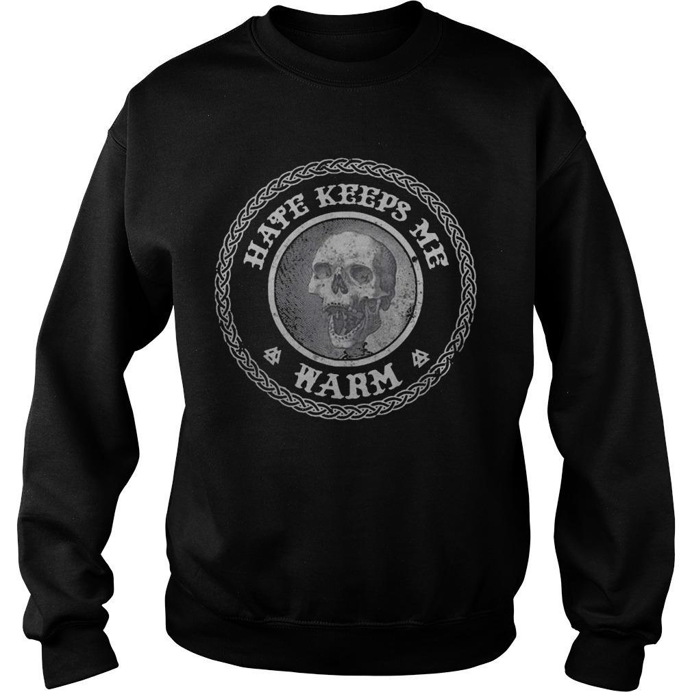 Skull Hate Keeps Me Warm Sweater