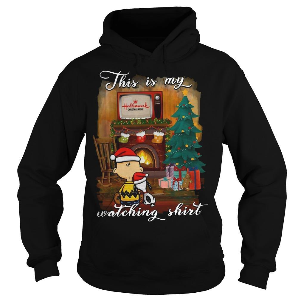 Snoopy And Charlie This Is My Hallmark Christmas Movies Watching Hoodie