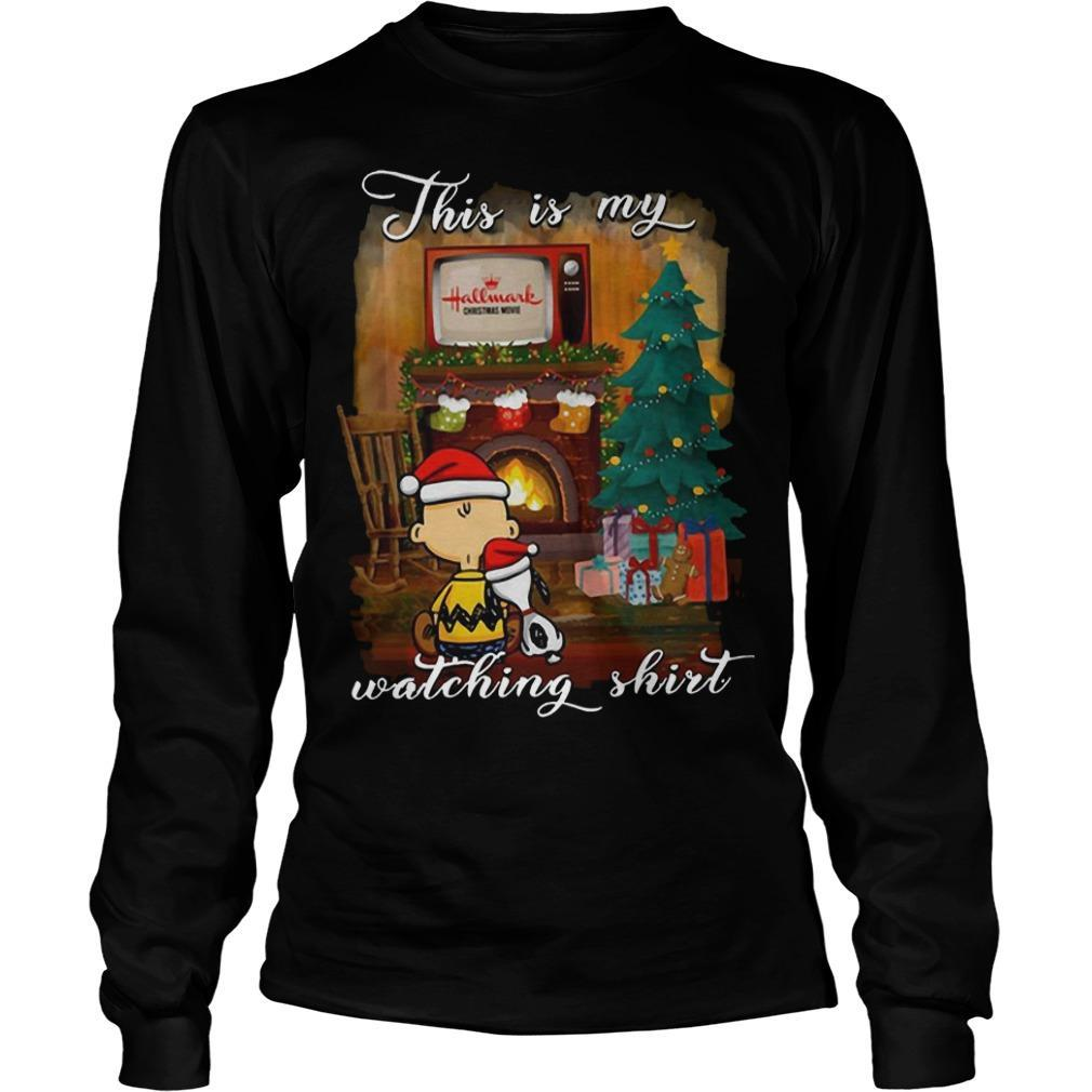 Snoopy And Charlie This Is My Hallmark Christmas Movies Watching Longsleeve