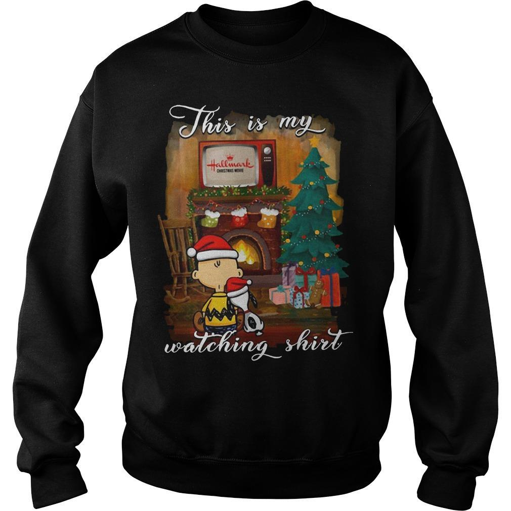Snoopy And Charlie This Is My Hallmark Christmas Movies Watching Sweater