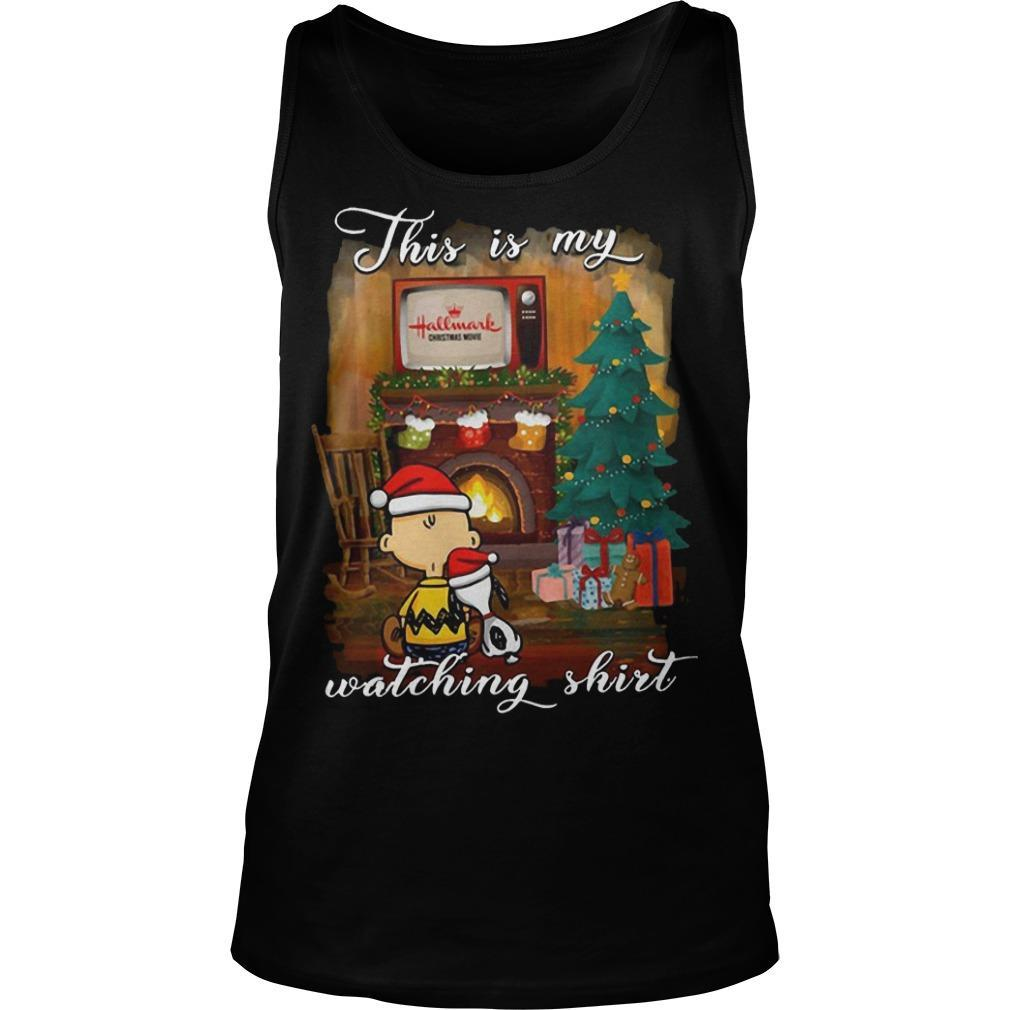 Snoopy And Charlie This Is My Hallmark Christmas Movies Watching Tank Top