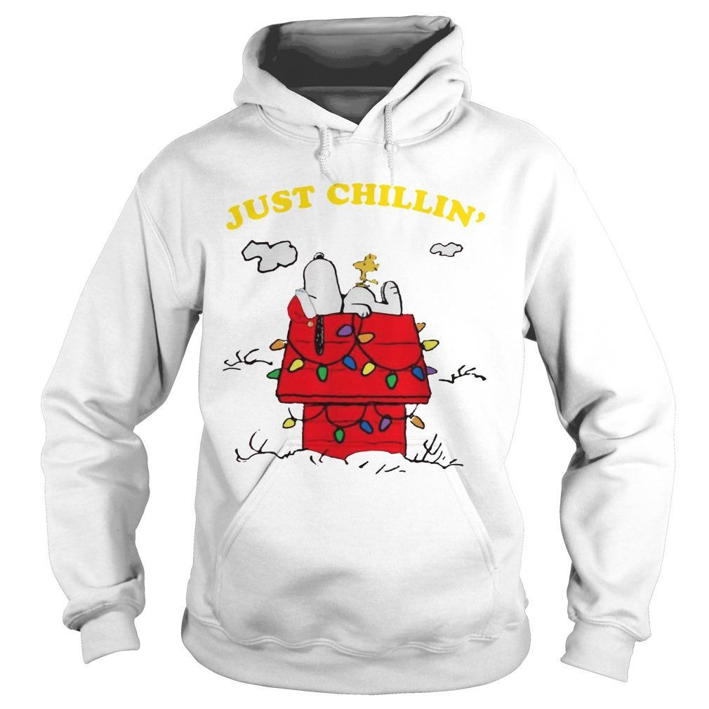 Snoopy Just Chillin' Christmas Hoodie