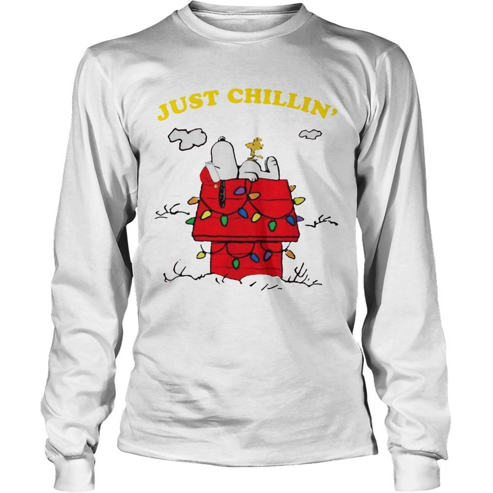 Snoopy Just Chillin' Christmas Longsleeve