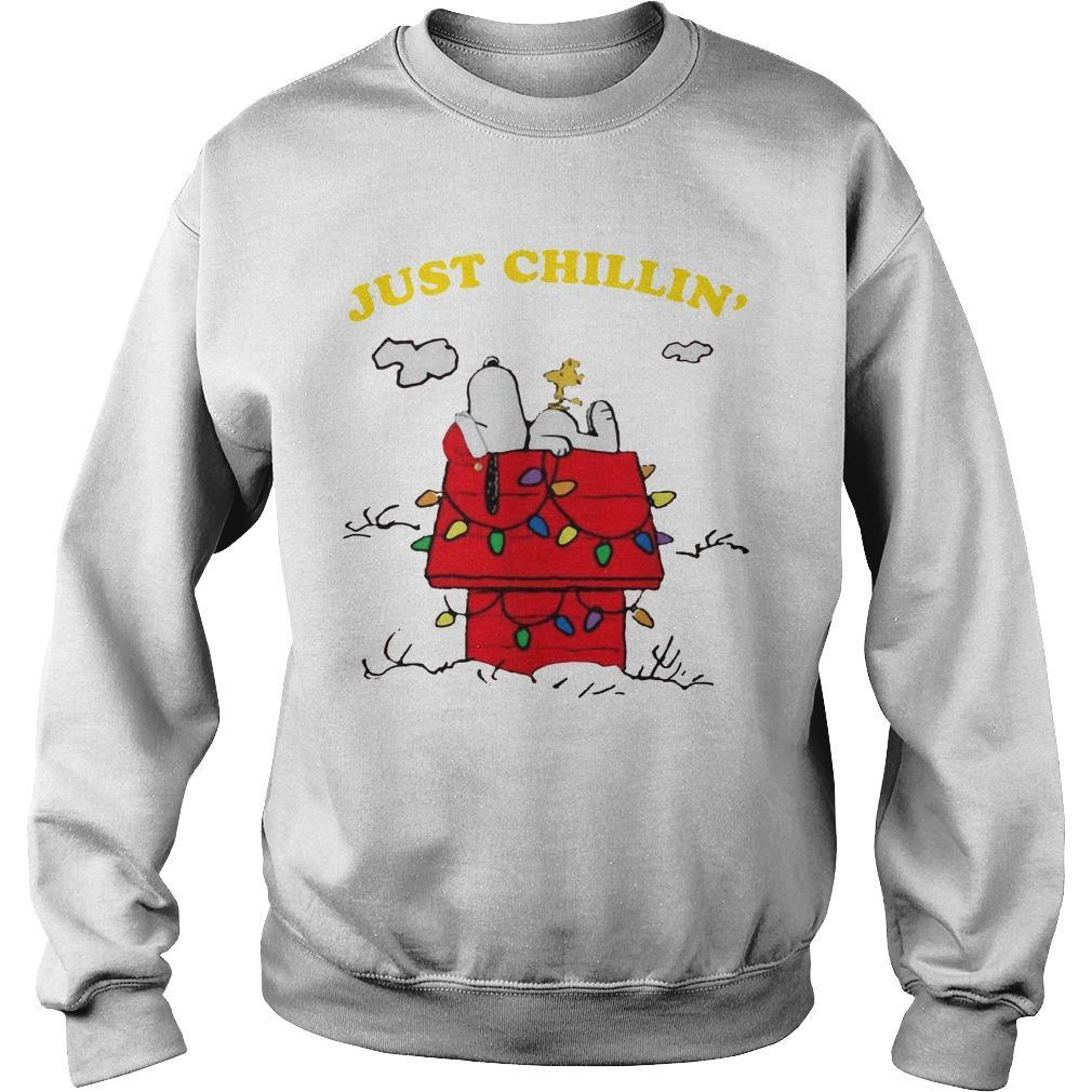 Snoopy Just Chillin' Christmas Sweater