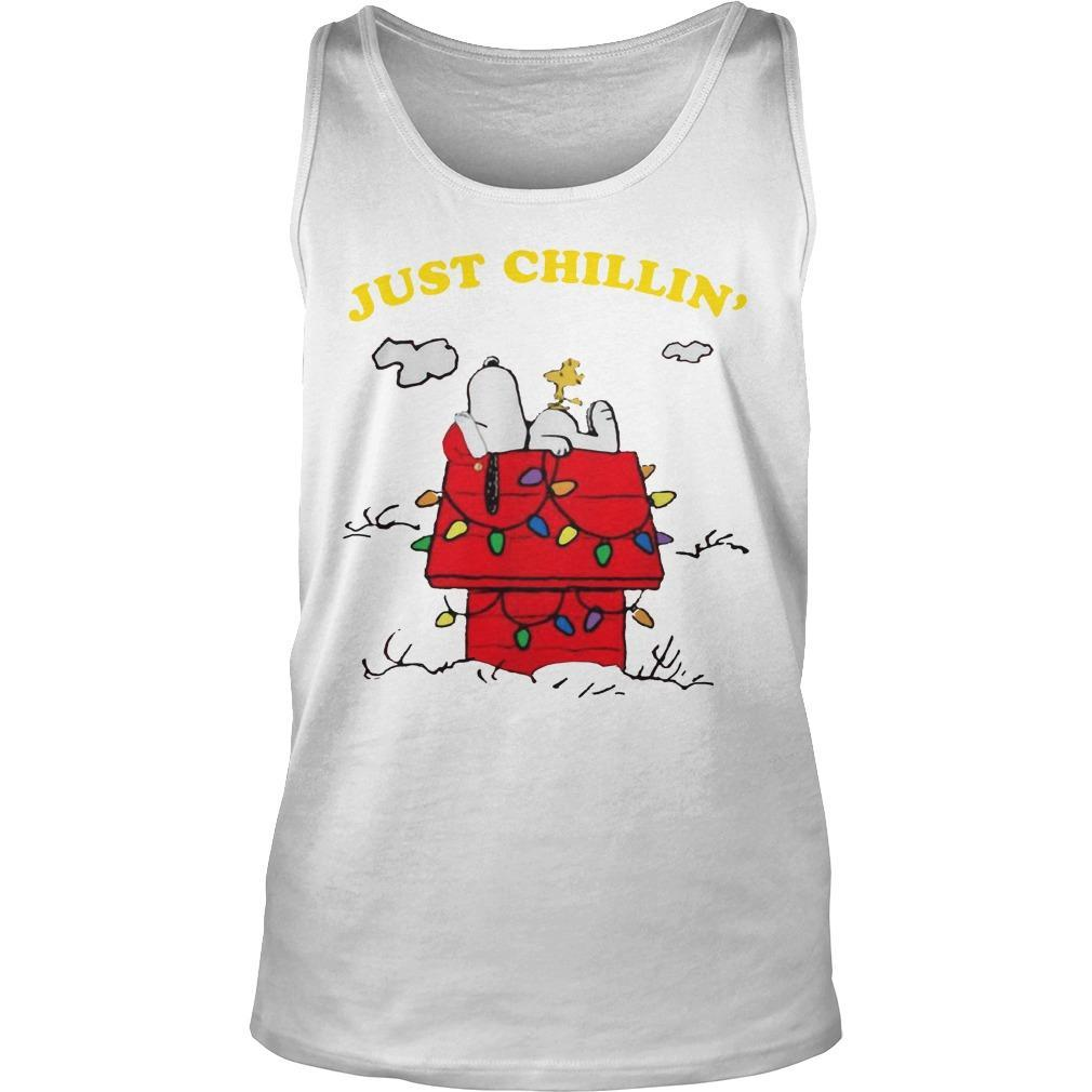 Snoopy Just Chillin' Christmas Tank Top