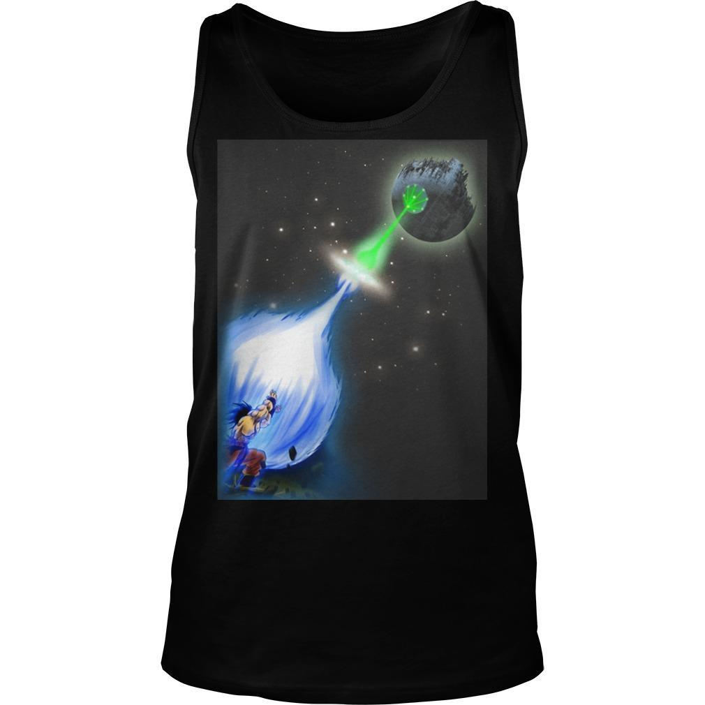 Songoku And Death Star Wars Tank Top