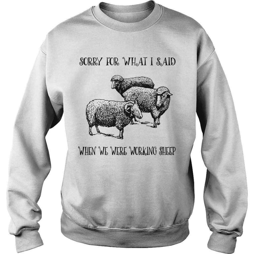 Sorry For What I Said When We Were Working Sheep Sweater