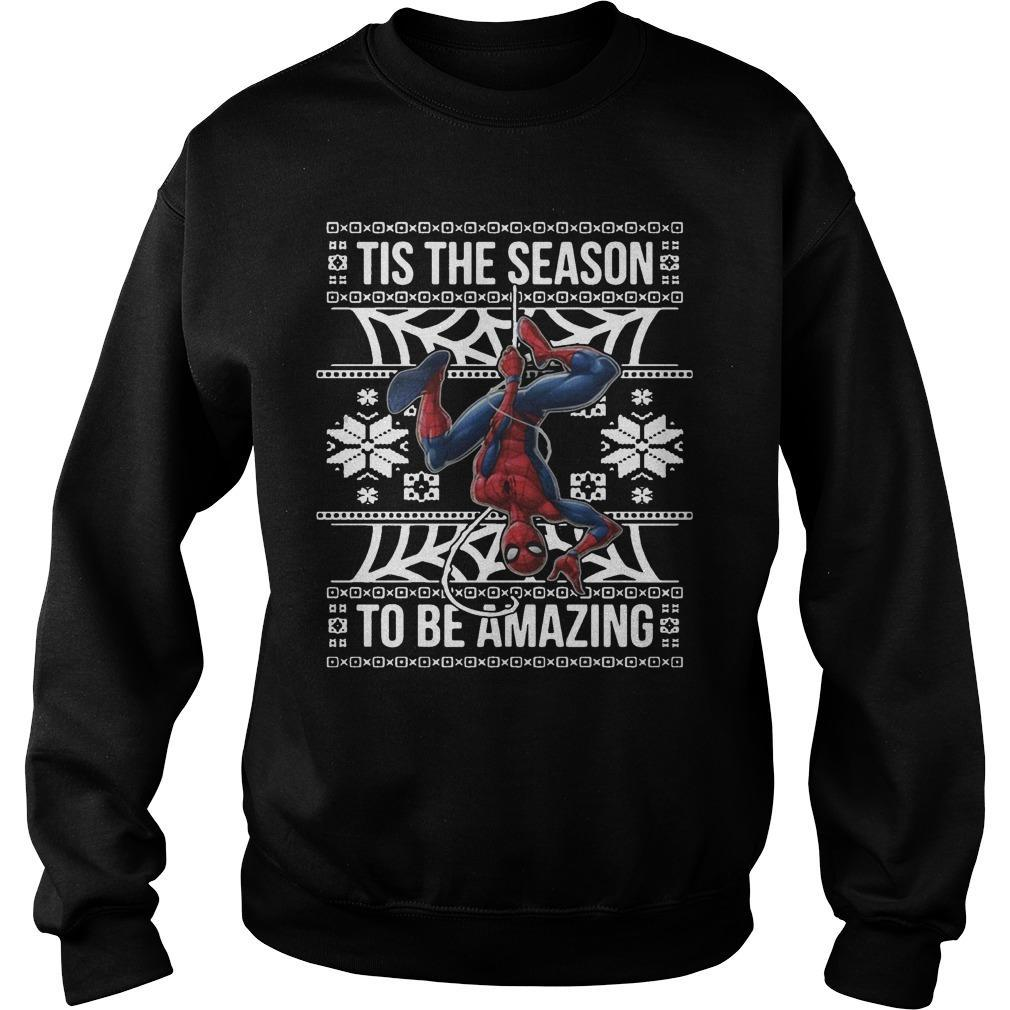 Spider Man Tis The Season To Be Amazing Sweater