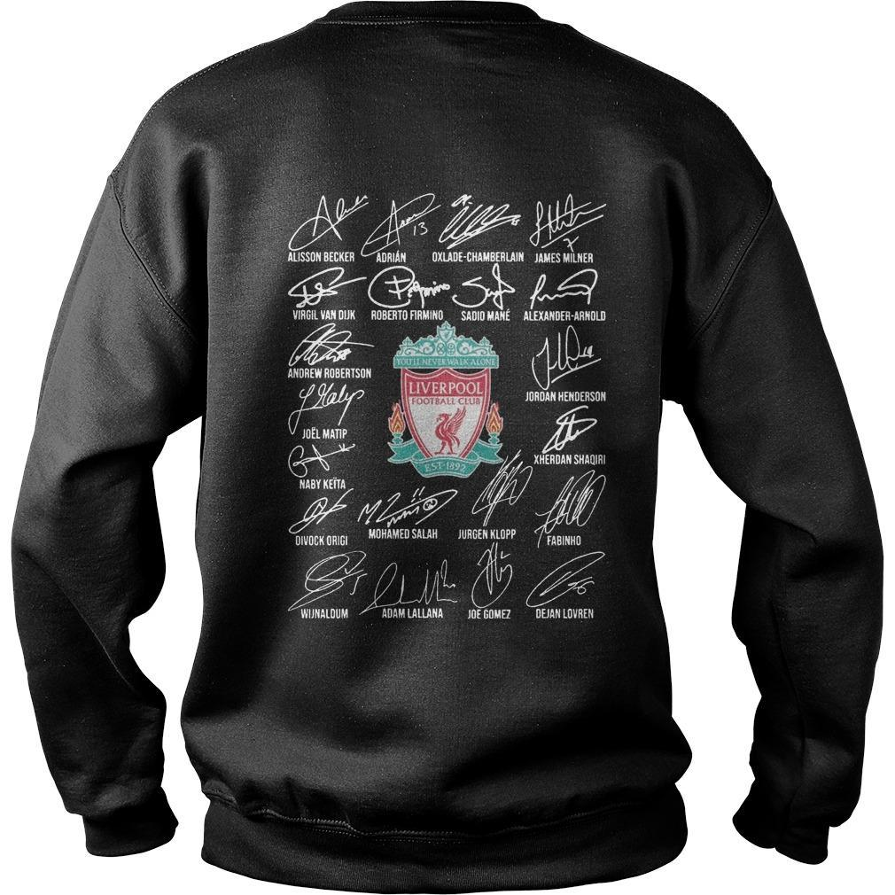 Standard Chartered Liverpool Fc Signatures Sweater
