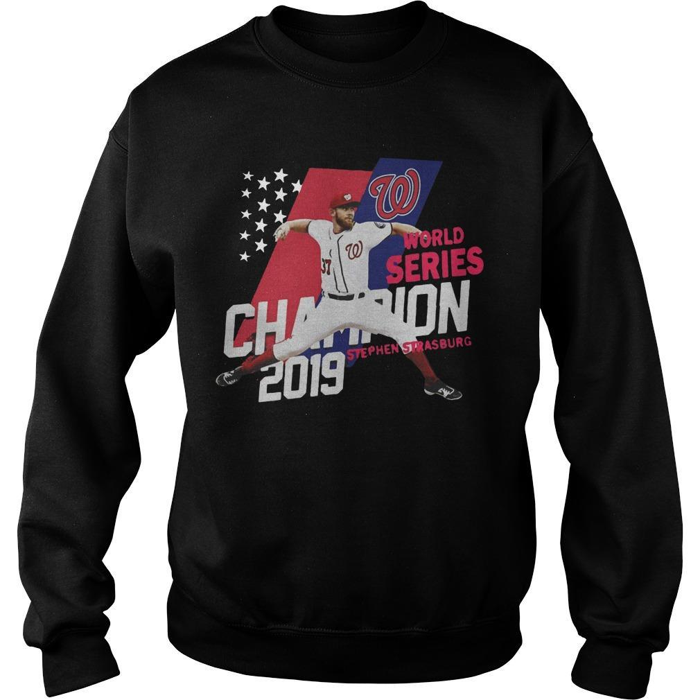 Stephen Strasburg Washington Nationals World Series Champions 2019 Sweater