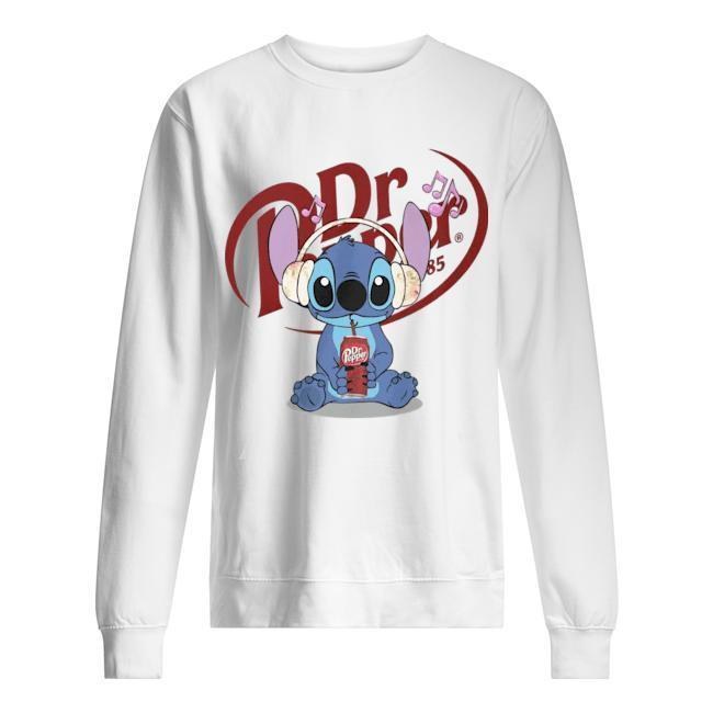 Stitch Listens To Music Drinking Dr Pepper Sweater