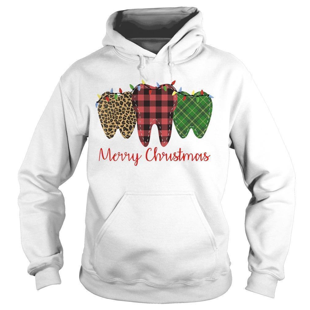 Teeth Merry Christmas Hoodie