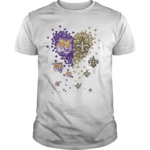 Tiny Hearts Shape Love Lsu Tigers New Orleans Saints Shirt