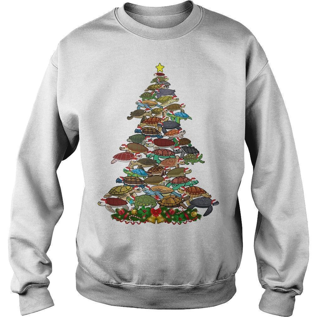 Turtle Christmas Tree Sweater