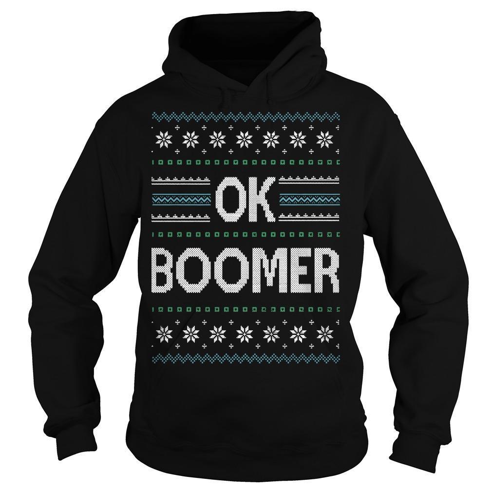 Ugly Christmas Ok Boomer Hoodie