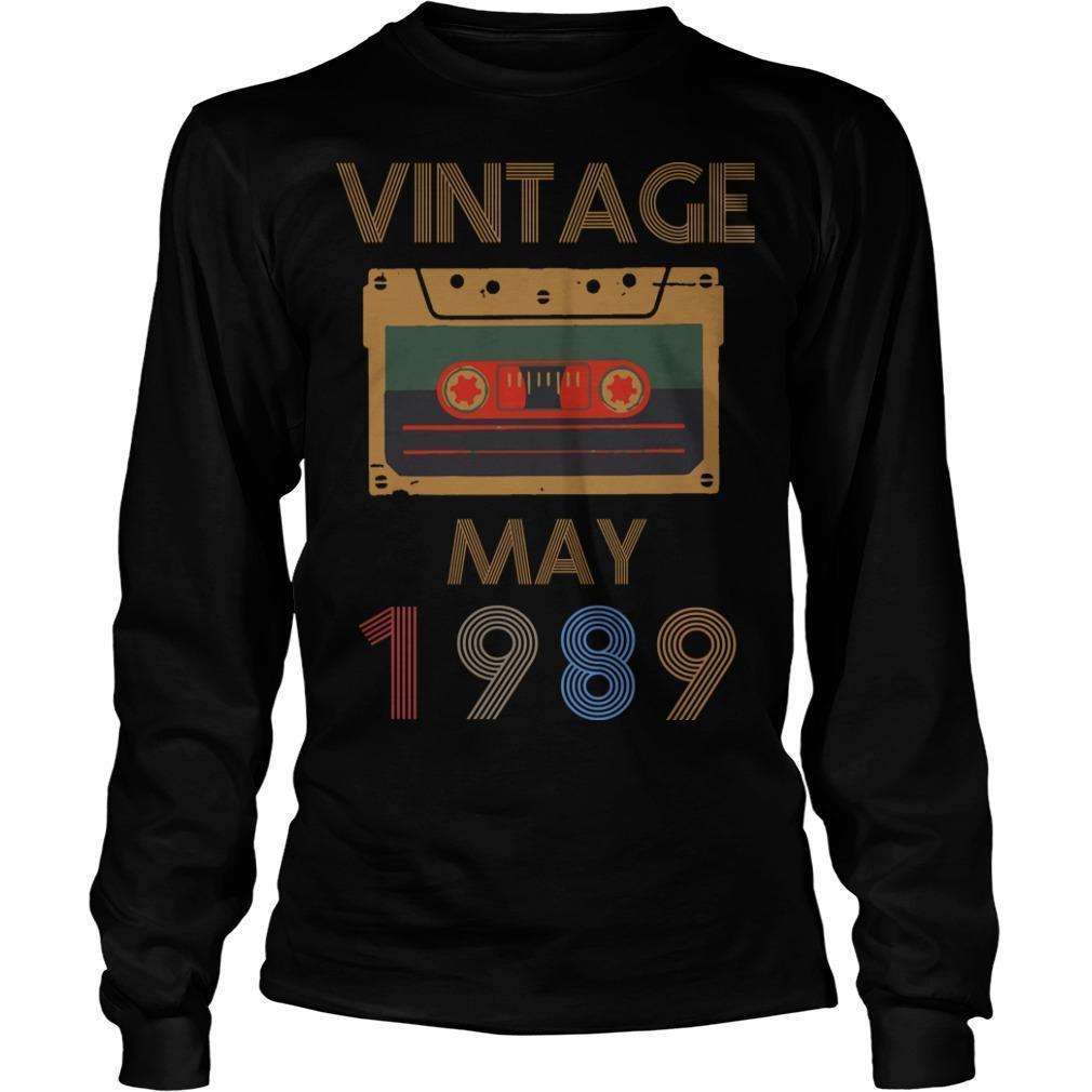 Video Tape Vintage May 1989 Longsleeve