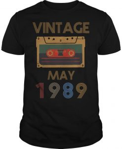 Video Tape Vintage May 1989 Shirt
