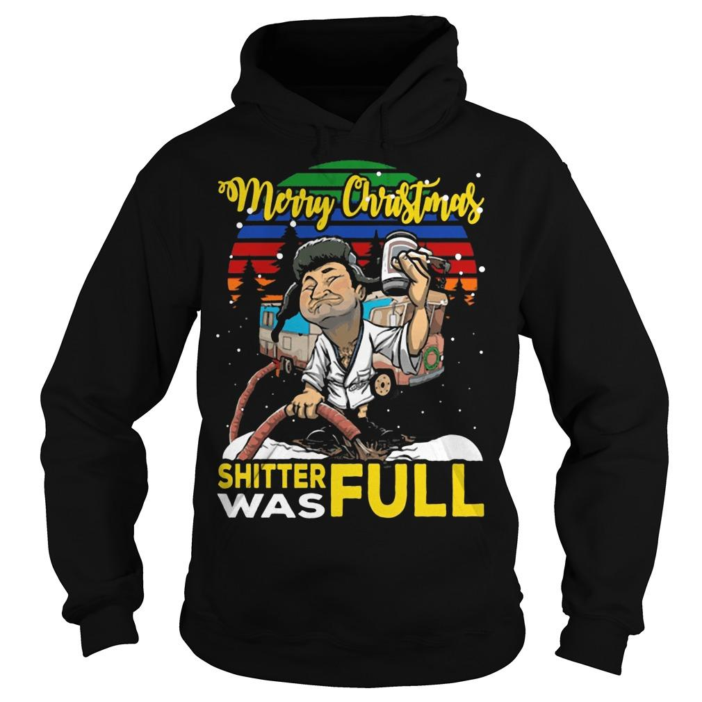 Vintage Lampoon Merry Christmas Shitter Was Full Hoodie