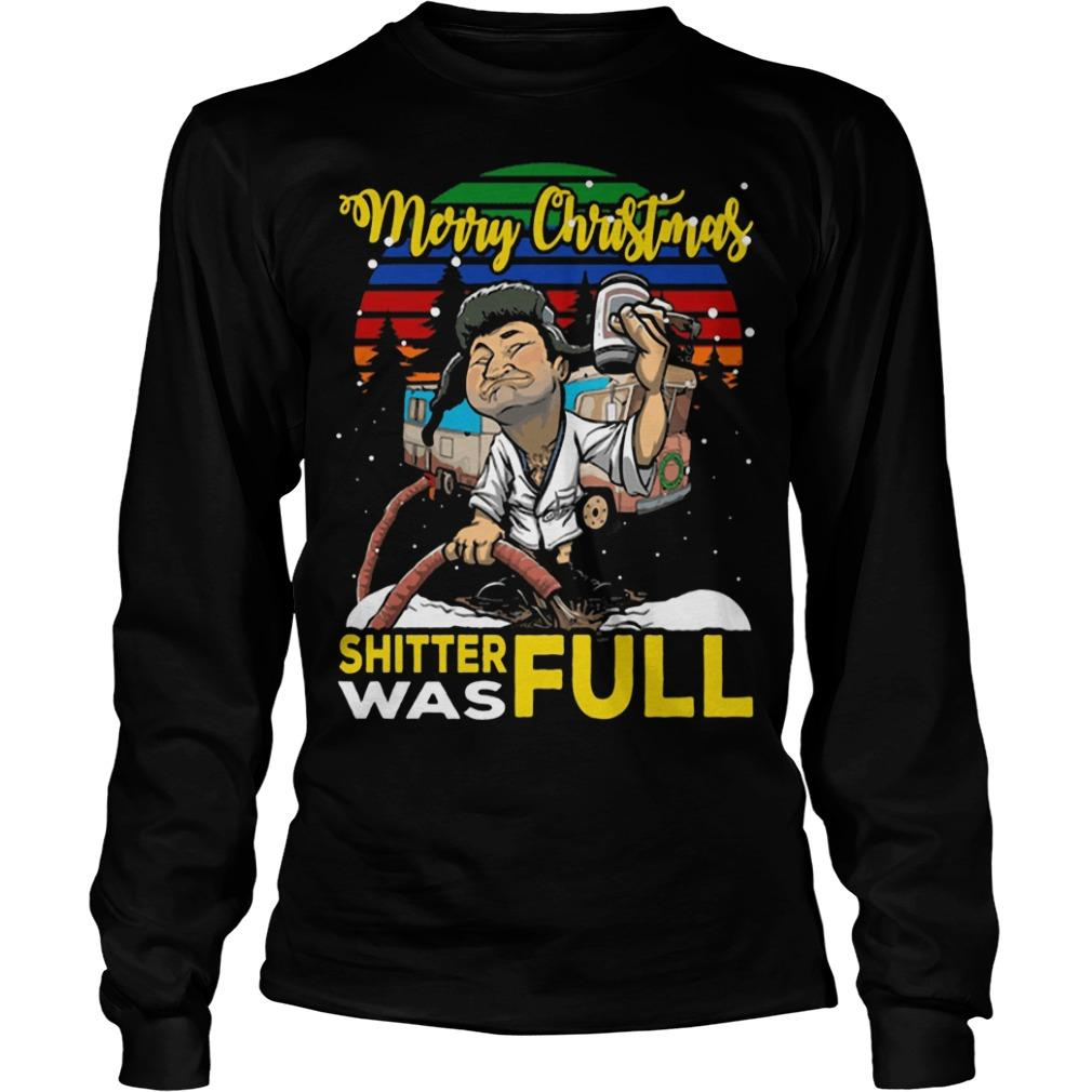 Vintage Lampoon Merry Christmas Shitter Was Full Longsleeve