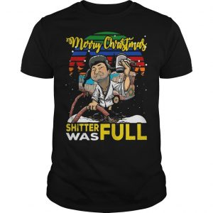 Vintage Lampoon Merry Christmas Shitter Was Full Shirt